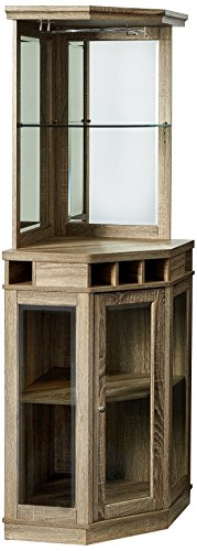 (Home Source DC06 Corner Bar Unit, Grey)