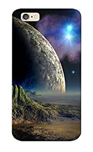 Crypab-2350-xeazyww Jeanbrinson Moon Over The Mountains Durable Iphone 6 Tpu Flexible Soft Case With Design