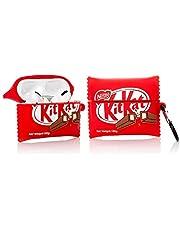 YIGEYI Siliconen Case Compatibel met Airpods Pro Grappige Leuke 3D Cartoon Cover [Leuke Snacks Serie 2] (Kitkat)