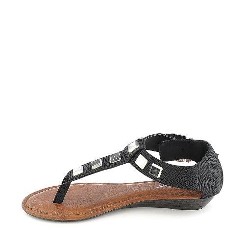 Bamboewomens Latte-23 Sandaal Zwart