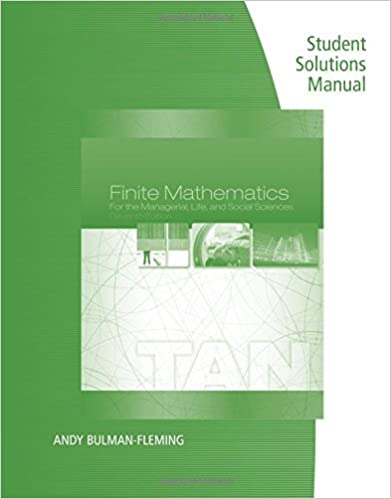 Student solutions manual for tans finite mathematics for the student solutions manual for tans finite mathematics for the managerial life and social sciences 11th 11th edition fandeluxe Image collections