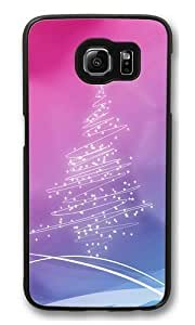 Christmas Lights Tree Polycarbonate Hard Case Cover for Samsung S6/Samsung Galaxy S6 Black