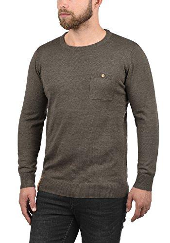 Indicode Demarcus Jersey De Punto Suéter para Hombre con Cuello Redondo con Bolsillo En El Pecho: Amazon.es: Ropa y accesorios