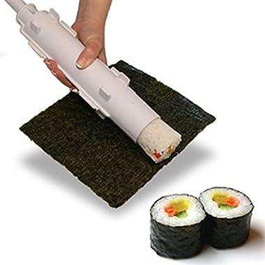 Bazooka Sushezi Sushi Roller Kit - Sushi Rolls Made Easy, all in 1 Sushi Making Machine.