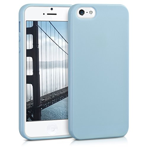 Silicone Matte (kwmobile Chic TPU Silicone Case for the Apple iPhone SE/5/5S in light blue matte)