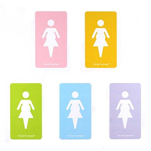 Pregnant Lady Barf Bags - Morning Sickness Vomit Bags (5 Bag Variety Pack)