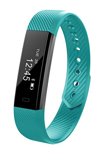 Fitness Tracker NewYouDirect Smart Bracelet Sport Wristband Smartband Pedometer Activity Tracker Calorie Counter Smart Watch for Apple IOS Android Smartphone(Cyan)