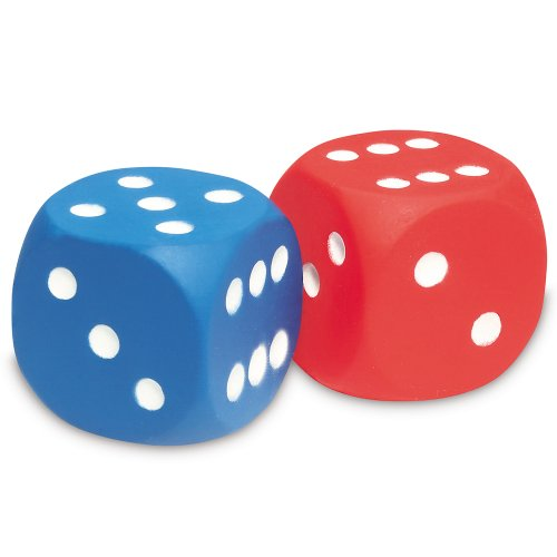 Learning Resources Foam Dice: Dot Dice, 6-Sided Dice, Ages 3+