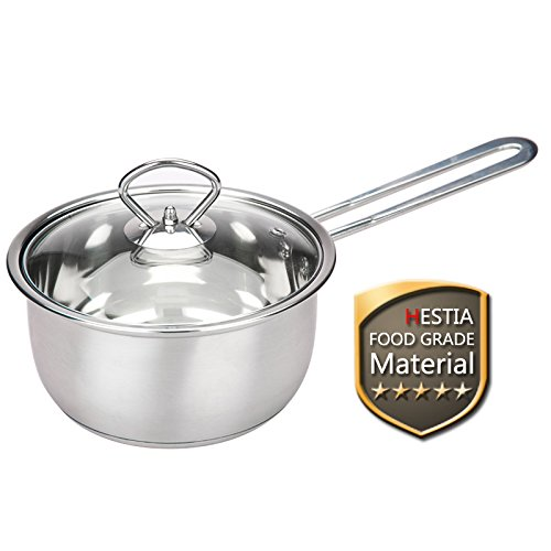 Small Stainless Steel Pot - Tri Ply Stainless Steel Sauce Pan With Lid 1 Quart