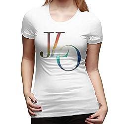 Jennifer Lopez T Shirts Fashion Short Sleeve Cotton Tee White