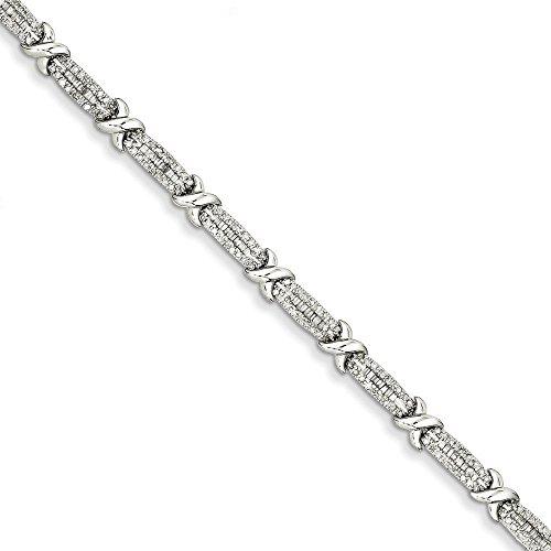 Or blanc 14 carats Diamant X JewelryWeb-Bracelet