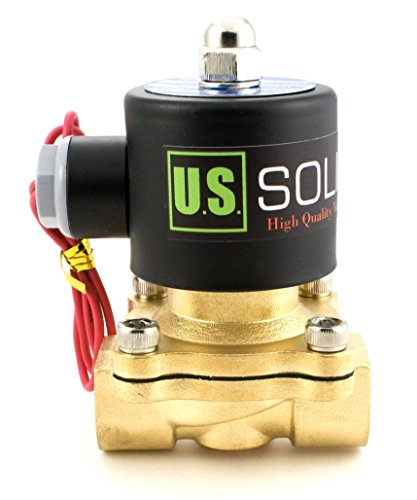 "1/2"" NPT Brass Electric Solenoid Valve 12V DC Normally Closed VITON from U.S. SOLID"