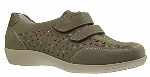 ara Velcro delle donne Scarpa Como 12-37538-06 grigio pistola grigio , Damen Größen:5.5;Farben:grau/kombi