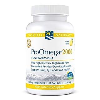 Nordic Naturals ProOmega 2000, Lemon Flavor - 2150 mg Omega-3 - 60 Soft Gels - Ultra High-Potency Fish Oil - EPA & DHA - Promotes Brain, Eye, Heart, & Immune Health - Non-GMO - 30 Servings