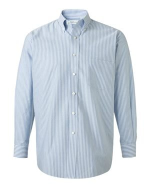s Classic Long-Sleeve Oxford - Blue & White Stripe, Extra Large (Discount Vans)