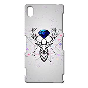 Sony Xperia Z3 Case,Deer Case,Premium Deer Pattern 3D Phone Back Case for Sony Xperia Z3