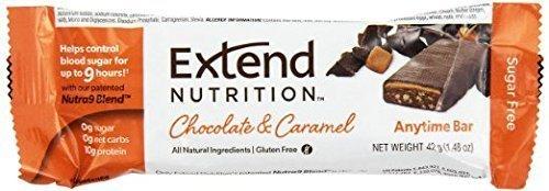 Extend Nutrition Bar, Chocolate & Caramel, 4 Little Bars by Extend