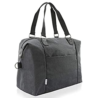 Weekender Bag for Women - Overnight Travel Tote - Underseat Carry On Luggage