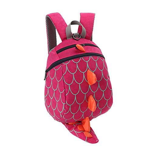 Kids School Backpack, YEZIJIN Children Kids Boys Girls Fashion Cute Cartoon 3D Dinosaur Shoulder Backpack Bags