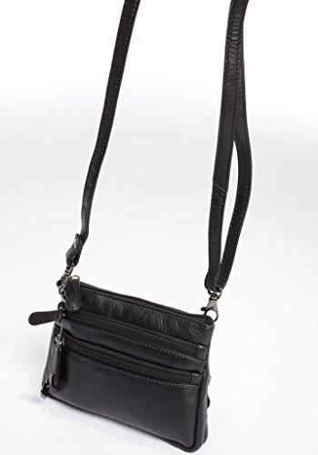 Josephine Osthoff Handtaschen-Manufaktur Hollywood - schwarz -, Borsa a spalla donna Nero nero ca.18 cm breit, ca.13 cm hoch, ca.3 cm tief