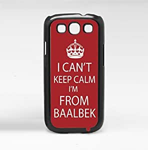 """Red and White """"Keep Calm, I'm From Baalek"""" Hard Snap on Phone Case (Galaxy s3 III) by lolosakes"""