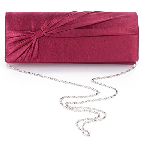 Prop Bridal Evening Bags blue Satin Navy Wedding Womens Large Bowknot Clutch Damara 0wYxOIqO