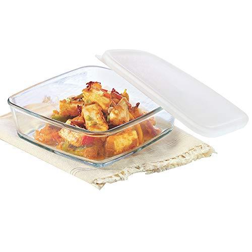 Borosil Square Dish with Lid Storage, 500ml Price & Reviews