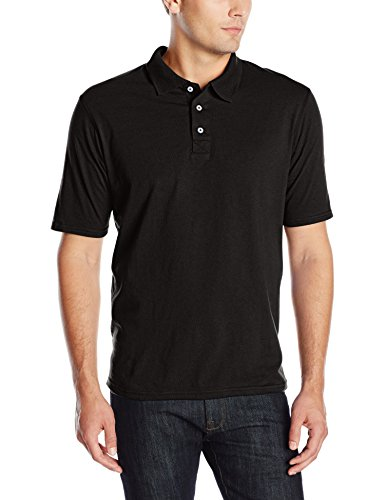 Hanes Men's X-Temp Performance Polo, Black, X-Large
