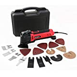 Hi-Spec 2.5A (300w) Oscillating Multi-Tool with Keyless Tool Changing, 38pc Accessory Kit and Variable Speed Switch for Sanding, Grinding, Cutting, Removing Grout and Stains – Power Tool