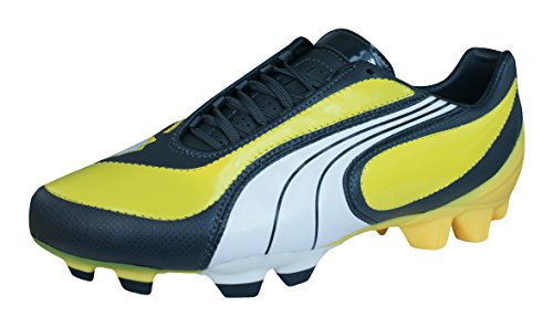 Puma V3.08 i FG Hombres Botas de fútbol de cuero Yellow
