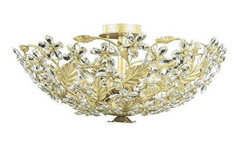 Crystorama 2724-OB-CL-SAQ, Oxford Swarovski Crystal Chandelier Lighting, 24 Light, 960 Watts, Brass