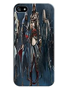 Tough tpu skin case cover with texture for iphone5(Assassin's Creed)by Shari Flanders