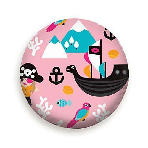 DmiGo Little Girls Pirates Whale Pirate Miscellaneous Universal Spare Tire Cover Black 17inch]()