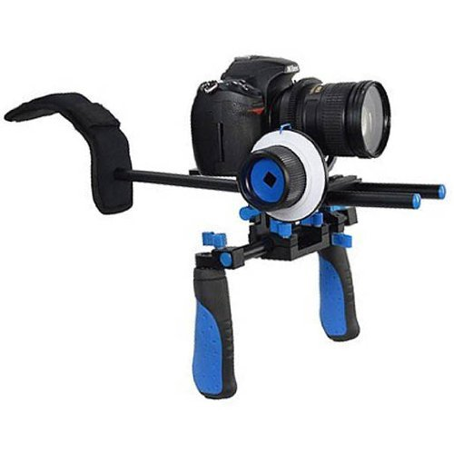 CowboyStudio RL02F+R Camcorder Steady Shoulder Rig and Follow Focus for DSLR Video Camera by CowboyStudio