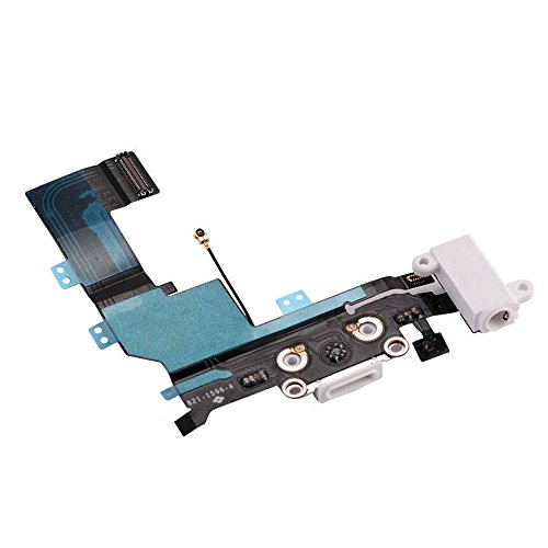 For iPhone 5SE Charging Charger Port USB Dock Connector Flex Cable With Microphone Audio Jack ()
