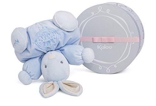 (Kaloo Perle Plush Toys, Blue Chubby Rabbit, Medium )