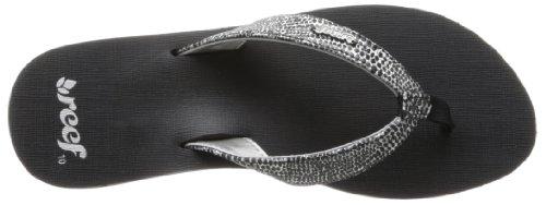 Women's Sassy Black Star Sandal Reef Silver Fq4a1x