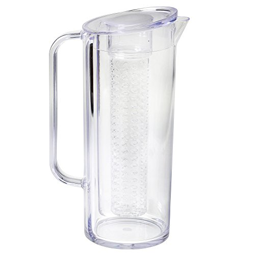 Tablecraft Plastic Pitcher - Tablecraft Infusion Pitcher with Lid, ½ Gallon, SAN Plastic