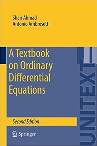 Book A Textbook on Ordinary Differential Equations (UNITEXT) by Shair Ahmad (2015-05-30)