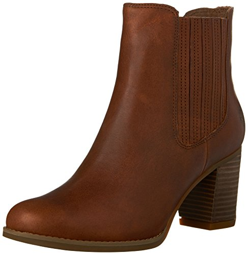 Timberland Women's Atlantic Heights Covered Gore Chelsea Boot, Medium Brown Full Grain, 8.5 M (Timberland Chelsea Boots)