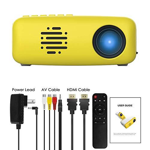 3T6B Mini Video Beamer, Tragbare TFT LED LCD Heimkino Projektor, kompatibel mit AV / USB / Micro-SD / TV-Stick für Home…