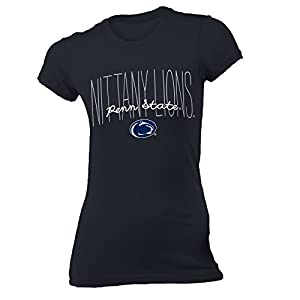 NCAA Pennsylvania State University Women's Vintage Sheer Tee, X-Large, Navy