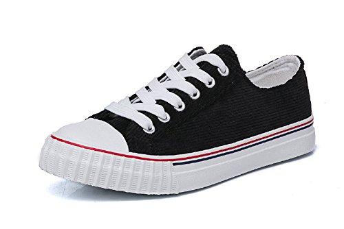 Amint Chaussures De Sport Chaussures De Sport Mode Sport Scolaire Street Style Baskets Basses En Toile Baskets Chaussures Noir