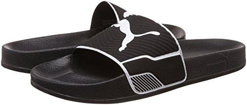 Zapatillas puma zapatillas Leadcat 7-14 Reino Unido - Chaquetón / Blanco o Negro / Blanco negro / blanco