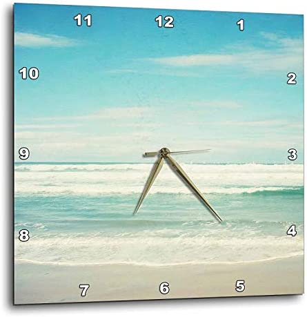 3dRose dpp_164479_2 Gentle Ocean Waves Beach Theme Art-Wall Clock, 13 by 13-Inch