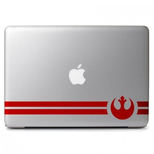 "Rebel Alliance Symbol Vinyl Decal Sticker Skin for Apple Macbook Air & Pro 11"" 13"" 15"" 17"" / Car / Laptop / Notebook / Chromebook / Tablet / Ultrabook / Window / Wall / Outside"