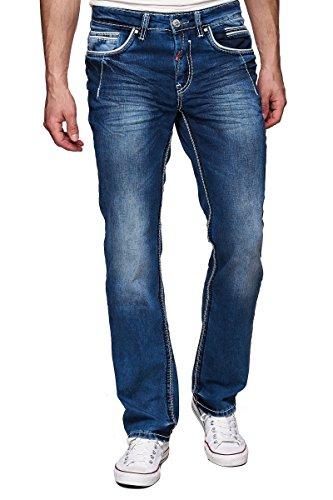 Rusty Neal Jeans Herren Hose Japan Style Clubwear Vintage Verwaschen Fit Used, Modell:8323-29;Hosengröße:W33/L32
