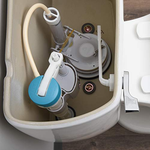 Amazon Basics AB-T117 Classic Universal Left-Front Side Mount Plastic Toilet Lever, Chrome, 1-Pack