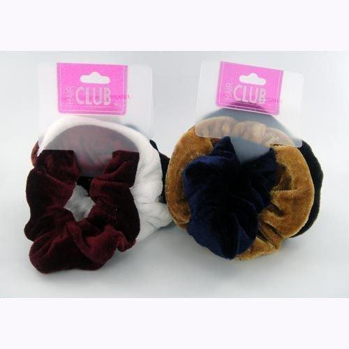 3 Pc Fabric Scrunchie Fall Colors 48 pcs sku# 893919MA by DDI
