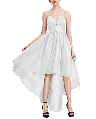 Amore Bianchi Abiti Donne Alti Sposa Dress Da 2017 Damigella Prom Sexy Bassi Da Satin UOxqzUw